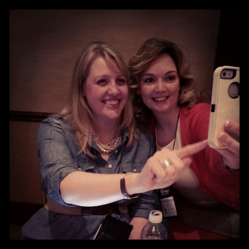 Rebecca Keliher & Heather Nieman having fun during the Tweet Up!