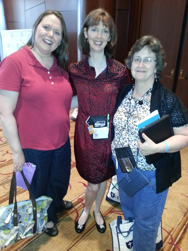 Together again: Tabitha Philen, Carol Anne Swett, and I, special needs buddies!