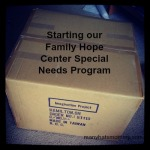 Click here to learn how we're starting our Family Hope Center #specialneeds program! via ManyHatsMommy.com