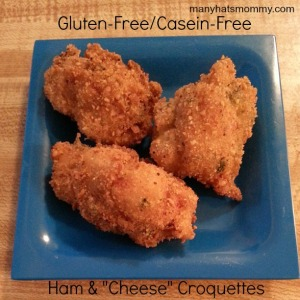Click here to discover gluten-free casein-free ham and cheese croquettes! via manyhatsmommy.com