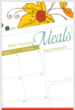 Grab your free printable meal planner for October!