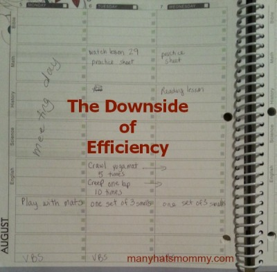 Is there a downside to efficiency? Click to discover! via manyhatsmommy.com