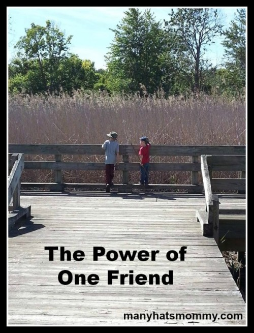 Discover the power of one friend! via manyhatsmommy.com
